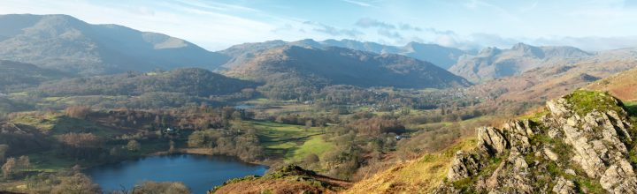 Loughrigg Tarn and the Langdales