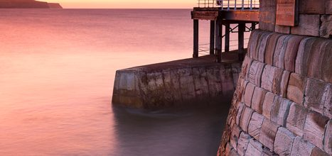 Sunset Whitby West Pier